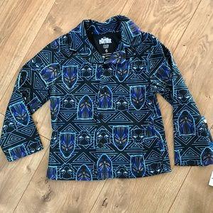 Marvel Black Panther Boys Button Sleep Shirt NWT